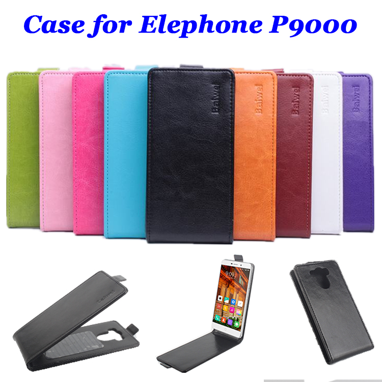 9 colors High Quality luxury Leather Case for Elephone P9000 Flip Cover case for Elephone P 9000 cellphone Cases phone housing(China (Mainland))