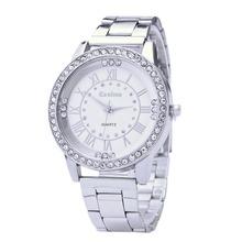New Arrival Girls Ladies Women's Watch Crystal Rhinestone reloj mujer Stainless Steel Analog Quartz Wristwatch For Women