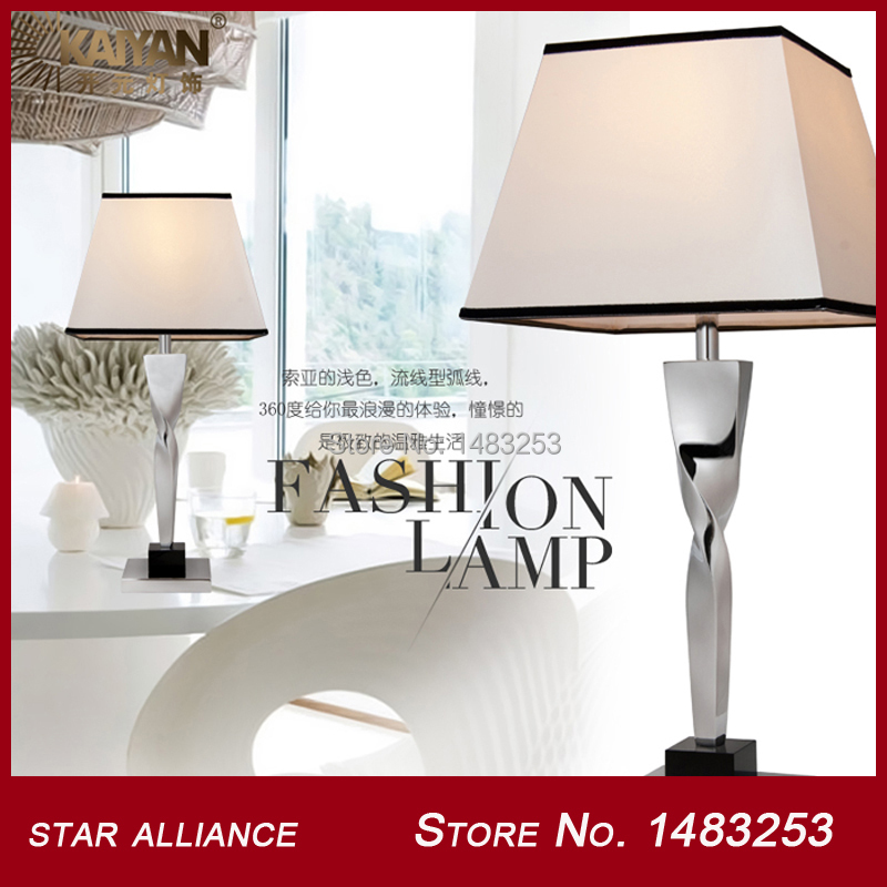 Simple Desk Lamp Trapezoid Lampshade Steel Table Lights Wiite E27 220V Desk Lighting Wholesale BT1715-1A(China (Mainland))