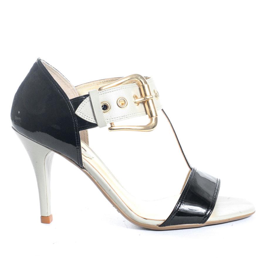 Black sandals 2 inch heel - Black Patent Upper Women Sandals T Strap Wide Adju