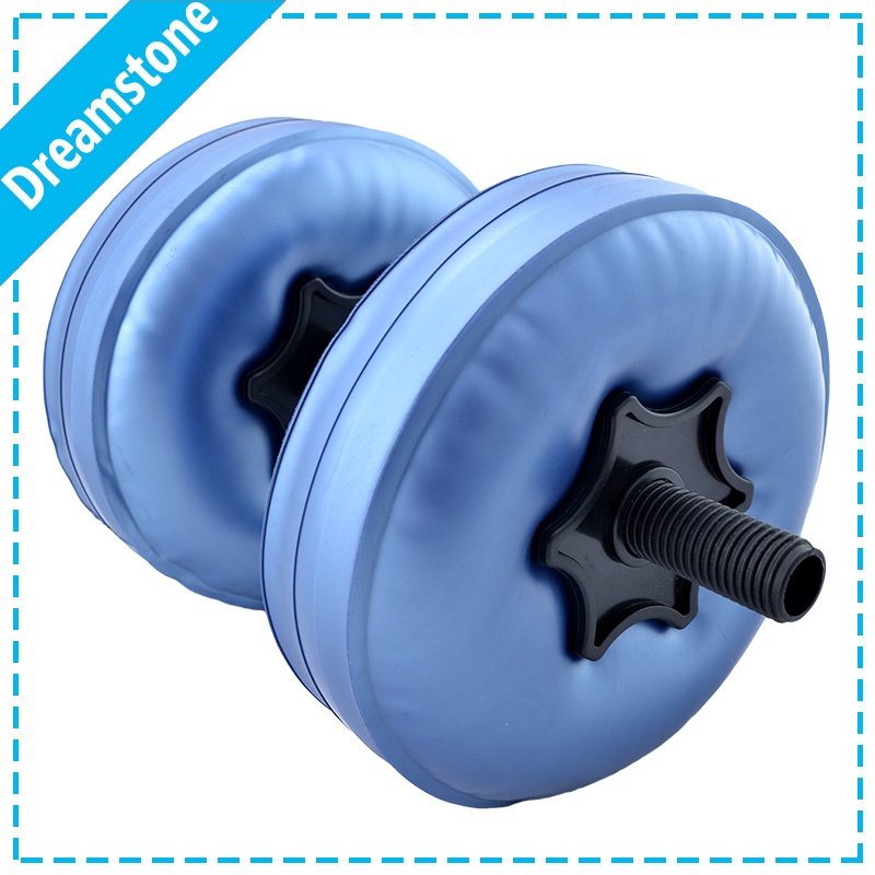 Free shipping 2016 hottest selling water filled dumbbells fitness for woman
