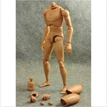 2014 New SH Popular 1:6 Scale Action Figure Narrow Shoulder Male Rod End Muscular Body Toys for TTM18 TTM19(China (Mainland))