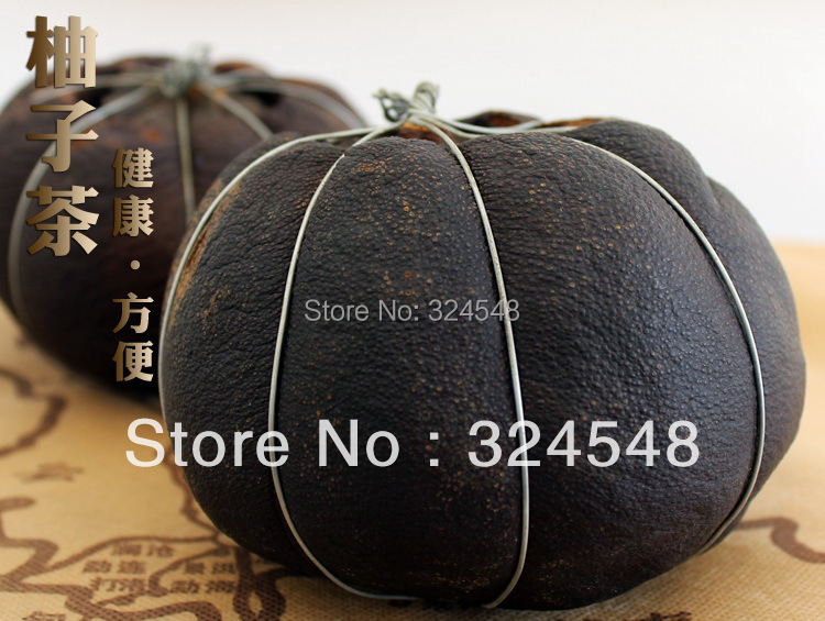 350G 1pcs Dried Grapefruit Puer Tea Harmonizing intestine stomach Free Shipping