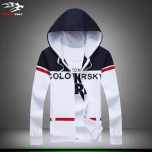 male Sweatshirts 2016 Fashion Men's Hoodies long sleeve cardigan Casual Hooded slim men's clothesJackets M-5XL Free shipping