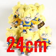 Dragon Ball Son Gohan Piccolo Vegeta Goku Trunks Vegeta Brinquedos de pelúcia 10 pçs/lote(China)