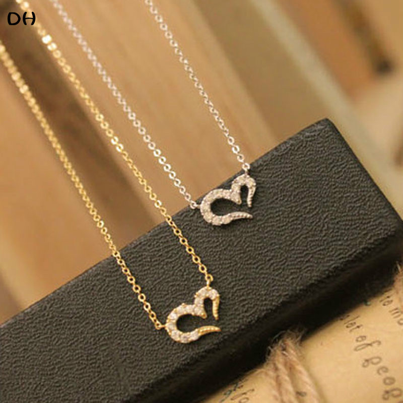 2015 New Fashion Hot-Selling Misha Barton Love Promise Love Heart Necklace Short Women Sweater Chain 66N536 66N537(China (Mainland))