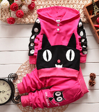 new 2015 summer children girls clothing sets brand new 100% Hats collar+Trousers kids clothes tracksuits 2pcs/set fashion(China (Mainland))