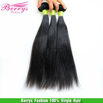 "8A  Malaysian virgin hair straight weaves unprocessed hair 3pcs lot(12""-34"") Berrys hair natural color cheap price hair products"