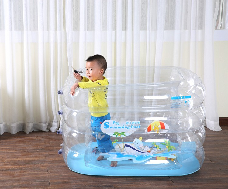 2016 new style baby inflatable pool baby pool thicken transparent green(China (Mainland))