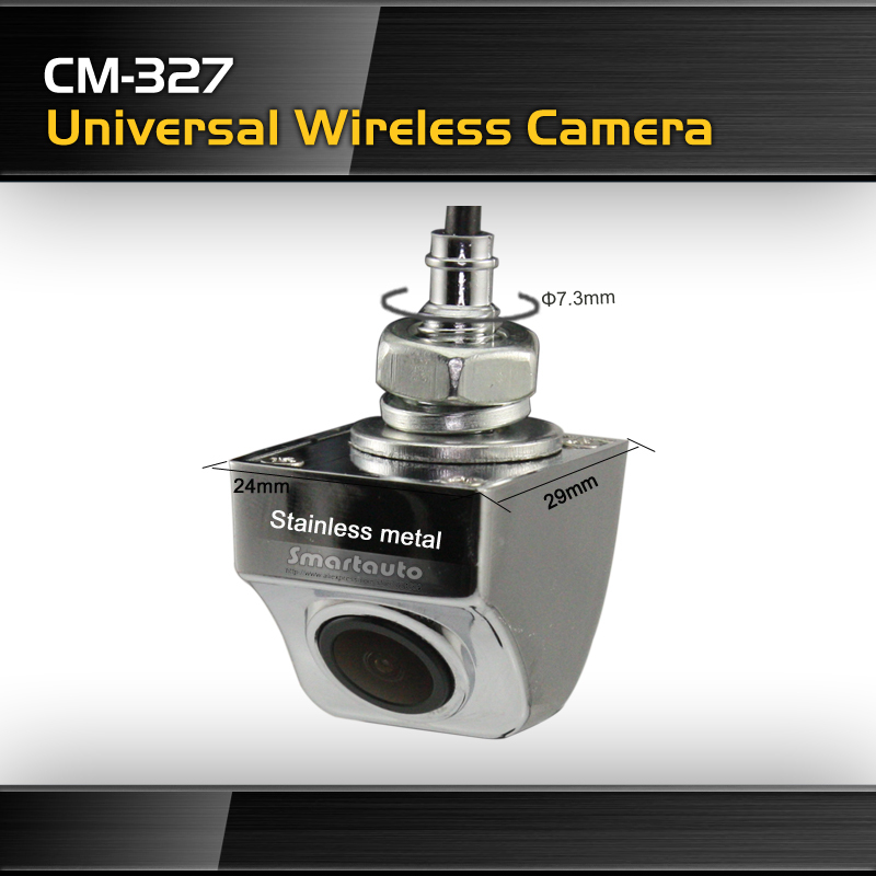 Latest hot sale CM 327 Wireless rotating Car Rear Camera 100% HD CCD Night vision Waterproof for universal cars(China (Mainland))