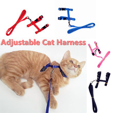 Adjustable Cat Harness Lead Leash Nylon Products For Pet Cat Kitten Durable Animal Walking Lead Traction Harness Belt Collar(China (Mainland))