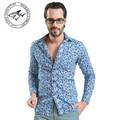 2016 New Polka Dot Men Long Sleeve Casual Shirt Men Cloth Casual Design Cotton Camisas Hombre