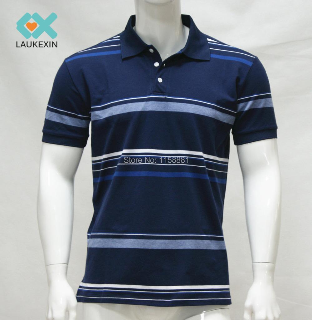 2015 New Arrival Men Polo Shirt Striped 100 Cotton Polo