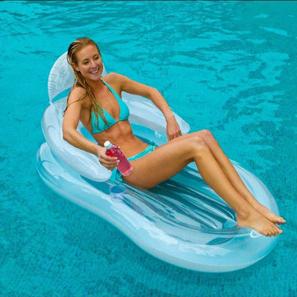 Free Express INTEX 58857 Pool Floating Chair Air Matress Inflatable Floating Bed Water for Holidays Sport Swimming & Diving(China (Mainland))