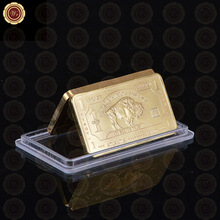 999 Gold One Troy Ounce Atlantis Mint 24k Pure Gold Bullion Bar with Free Capsule(China (Mainland))