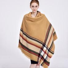 140*140cm Brand Cashmere Scarf Plaid Designer Acrylic Blanket wrap Warm Winter Scarf Shawl For women(China (Mainland))