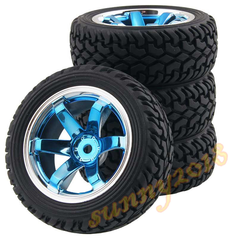 4Pcs RC Pull Rally 1:16 Off-Road Wheel Rim &amp; Tyre Tires 706BB-8019<br><br>Aliexpress