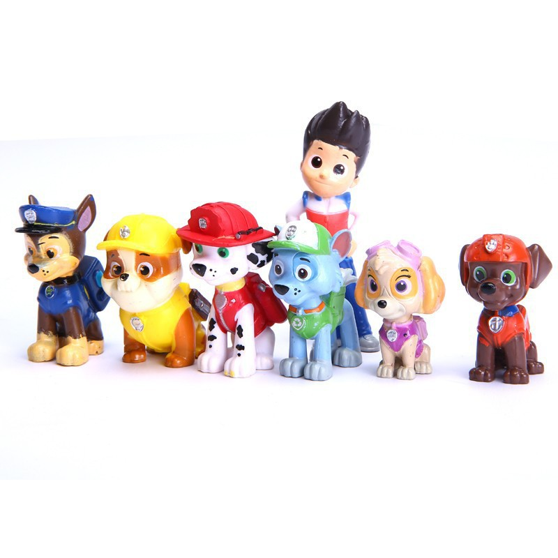 12pcs/lot Paw Patrol Dog Kids Toys,Puppy Patrol Doll Action Paw Patrol Pup Buddies Figures Toys Anime Figure(China (Mainland))