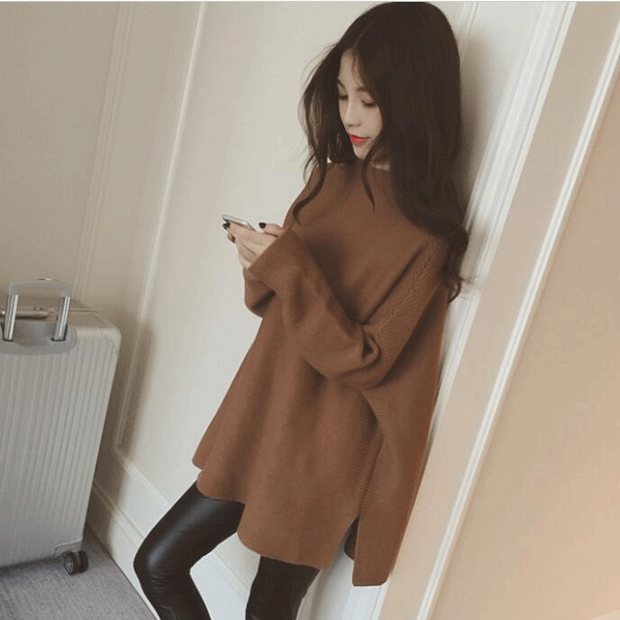 Real Photo! Hot 2016 new Autumn and winter maternity sweater long jacket loose sweater free shipping(China (Mainland))