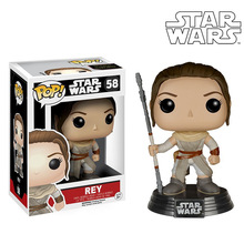 Funko pop Official REY Vinyl Figure Star Wars Hot Movie  Bobble Head Action Toy Figures Collectible Decoration Doll