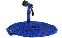 75 Feet Blue Expand Expanding Flexible Garden Water Hose with Nozzle(China (Mainland))