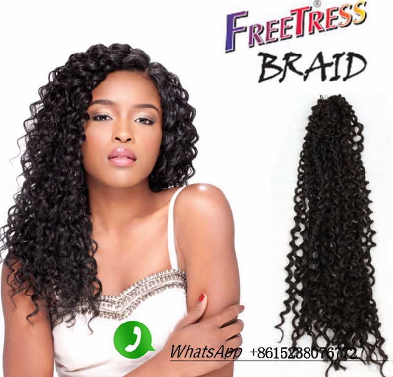 NEW! Freetress Water Wave 3x Flexi Lock Pre-loop Hair extension black color human crochet hair twist bohemian braids nubian hair