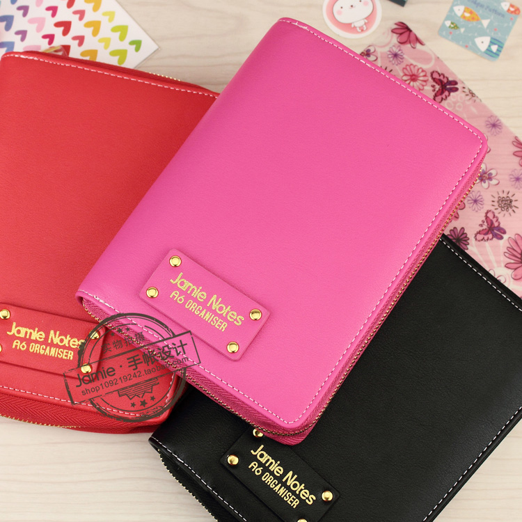Macaron Spiral Time Planner pencil case Zipper leather books Diary Agenda A6 Cute Creative Diary notebook Agenda School Supplies<br><br>Aliexpress