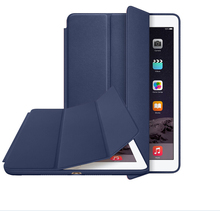 Origin for iPad Air 2 case smart case cover for iPad Air 1 case with logo1set/lot+screen film+pen free shipping(China (Mainland))