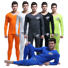 Cotton Thermal Underwear Men Long Johns Warm Top Thermo Set Mens Sexy Long Sleeve V neck Tops Wolf Leggings Long John For Men XL(China (Mainland))