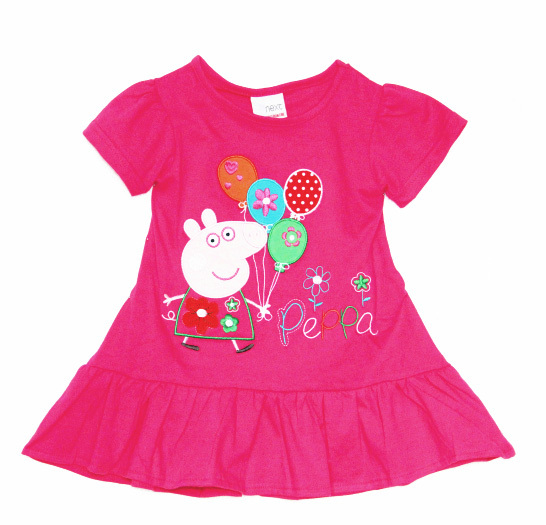 Clearance Nice Quality girl girls kids Embroidery summer short sleeve pink Tunic tee sale best price - Goldbayce Store store