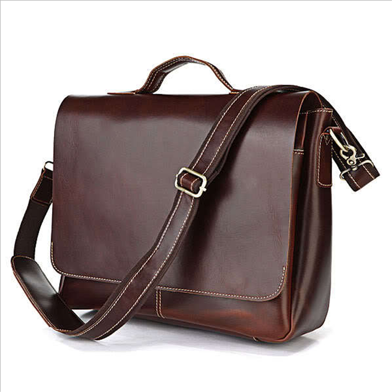 Baigio Men Italian Leather Briefcase 14.5 Laptop Bags Brand Designer Men Messenger Bag Vintage Burgundy Tote Shoulder Bags<br><br>Aliexpress