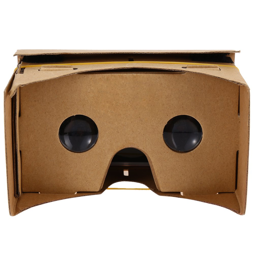 "Hot!!! DIY Magnet Google Cardboard Virtual Reality VR Box Mobile Phone 3D Viewing Glasses For 5.0"" Screen Google VR 3D Glasses(China (Mainland))"