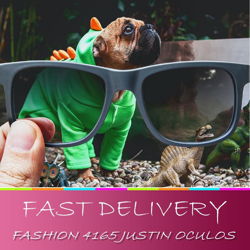 2016 New Fashion Summer Retro Glasses 4165 Justin Style Gradient lens oculos de sol 601/8G for Men women with coffe boxes(China (Mainland))