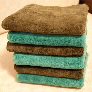 Car wash towel ultrafine fiber nano cleaning towels auto supplies cleaning towel car wash cloth 12pc/lot size S 6pc+ M 6pc(China (Mainland))