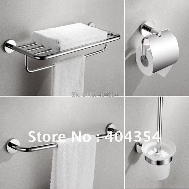 High Quality SUS 304 Satinless Steel Bathroom Set -Best Value 4 set-286(Bath Hardware Sets)