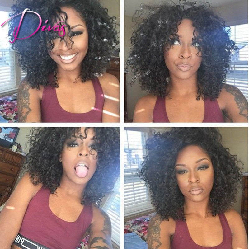 Brazilian Virgin Hair Glueless Full Lace Human Hair Wigs For Black Women Unprocessed Lace Front Wigs Fast Shipping<br><br>Aliexpress
