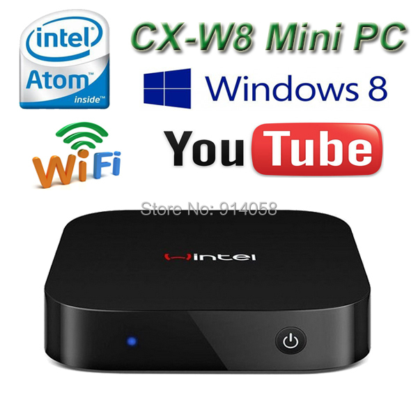 1 piece CX-W8 Windows 8 Tv Box Mini PC Intel Atom Z3735F Quad Core Windows 8.1 RAM 2GB ROM 32GB Faster Than Android TV Box