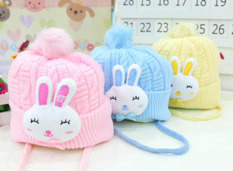 New hot Autumn and winter baby hat baby hat newborn cap tire bear pocket hat line super-soft fleece baby hat free shipping(China (Mainland))