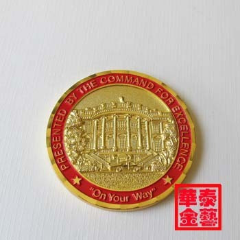 gold-plating white house collecting coins