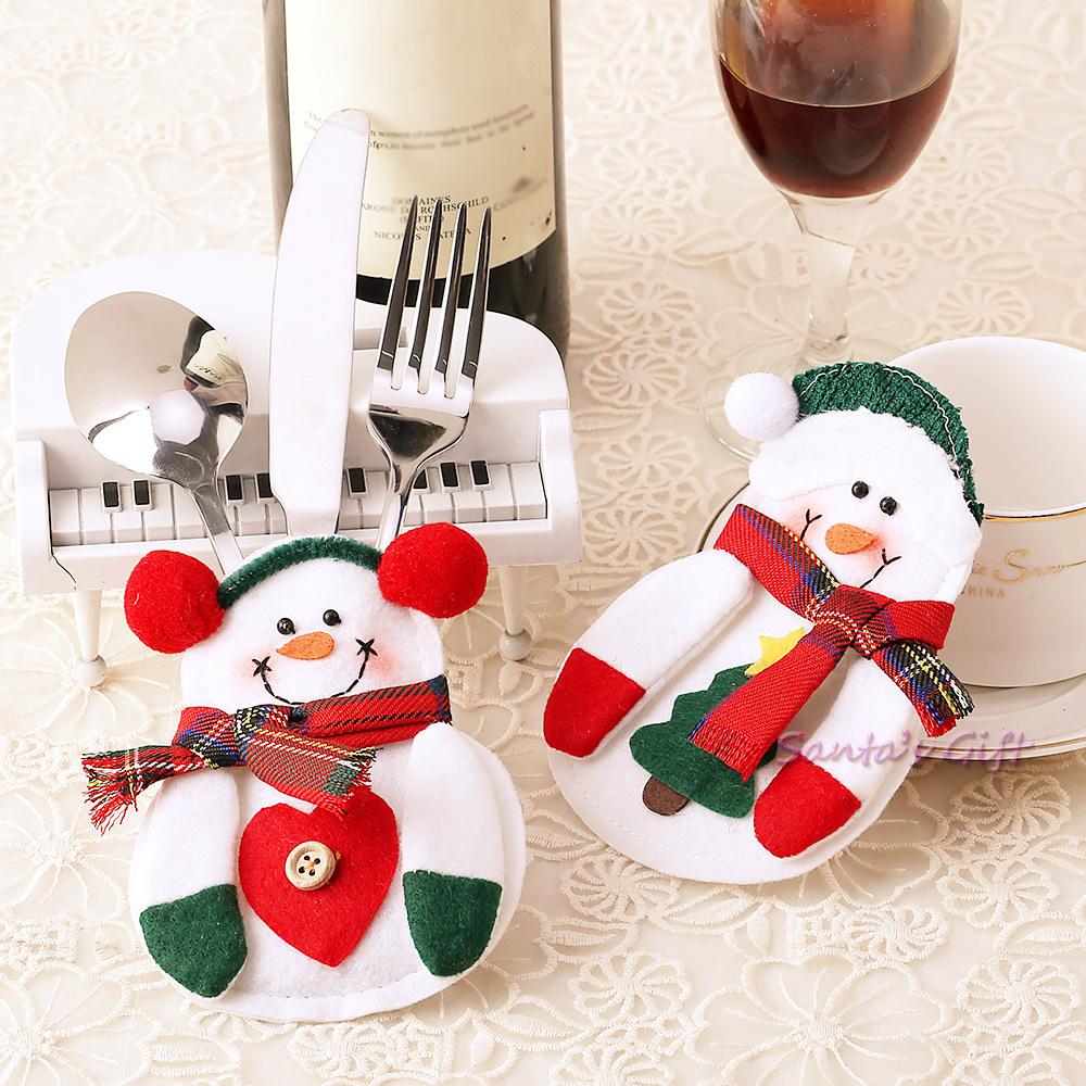 2016 new year snowman christmas decoration tree silverware for Decoracion 2016 navidad