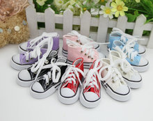 Assorted Colors 7.5cm Canvas Shoes For BJD Doll Toy,1/3 Mini Doll Shoes for BJD Accessories for 16 Inch Sharon doll Boots