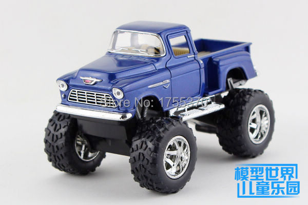 Freeshipping Classic 1:32 Chevrolet 1955 Big Foot Pick-up Off Road Truck Model Cars Alloy Diecast Model Toy Car(China (Mainland))