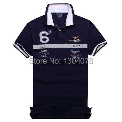 Polo Aeronautica Militare мужчины Polo рубашки марка хлопок короткий рукав Camisa ...