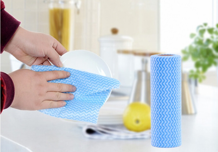 Cleaning Cloth Non Woven Nonstick Roll Wipes Floor Rag Eco-friendly stocked House Kitchen Cleaning scouring pad Rolls Dishcloth(China (Mainland))