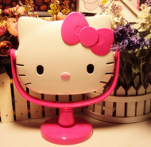 Kitty Hairdressing  bench mirror  table  rotating cartoon cosmetic mirror