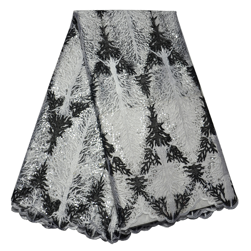 Free Shipping!!! high quality African French Lace fabric.African guipure Lace fabric.Embroidery lace fabric with sequins(China (Mainland))