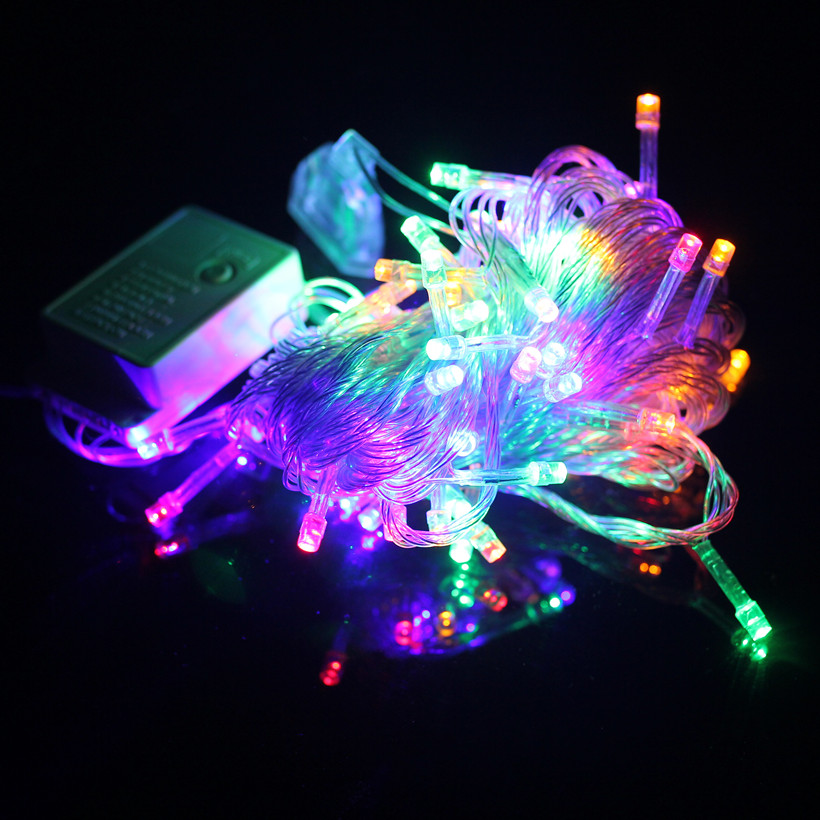 Half String Of Christmas Lights Blinking : 2015 new 100 LED 10m led String Light for Holiday Party Wedding led christmas lighting 1pieces ...