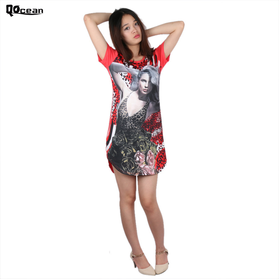 Women African Print Dresses Summer Dresses Large Womens Party Night Knitted Cartoon Sexy Dress Shirt Colthing Blue DD001(China (Mainland))