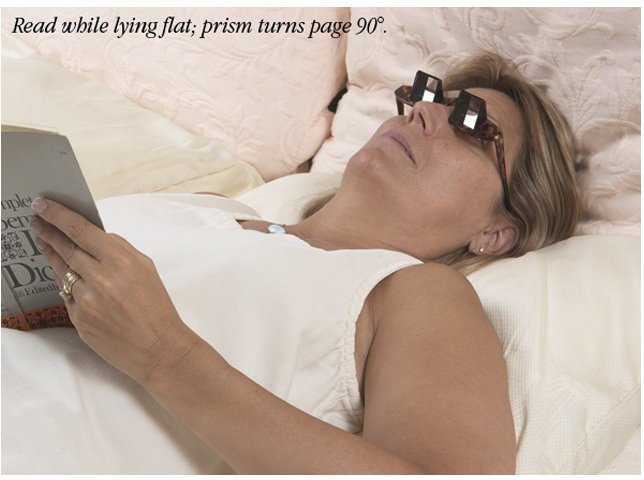 Free Shipping 3pcs/lot Creative High Definition Horizontal Glasses Lazy Glasses,Novelty Bed Lie Down Periscope
