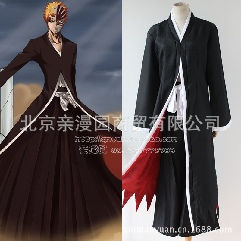 Kurosaki Ichigo Cosplay Costume in Bleach Halloween Costumes For Women Party Clothes For 1 Set